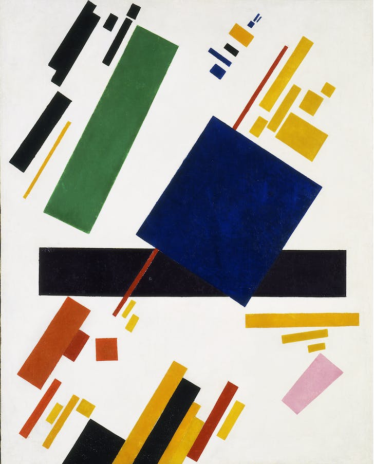 'Suprematist Composition' by Kazimir Malevich, the early twentieth-century avant-garde artist whose work inspired Hadid's early drawings. Credit: malevichpaintings.com