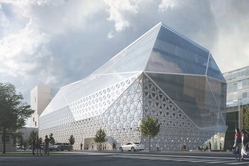 Gent Diamond ING HQ by Asymptote Architecture. Image: Asymptote Architecture.