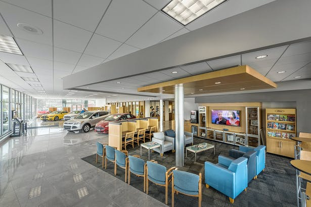 Renovated and expanded patron waiting area.