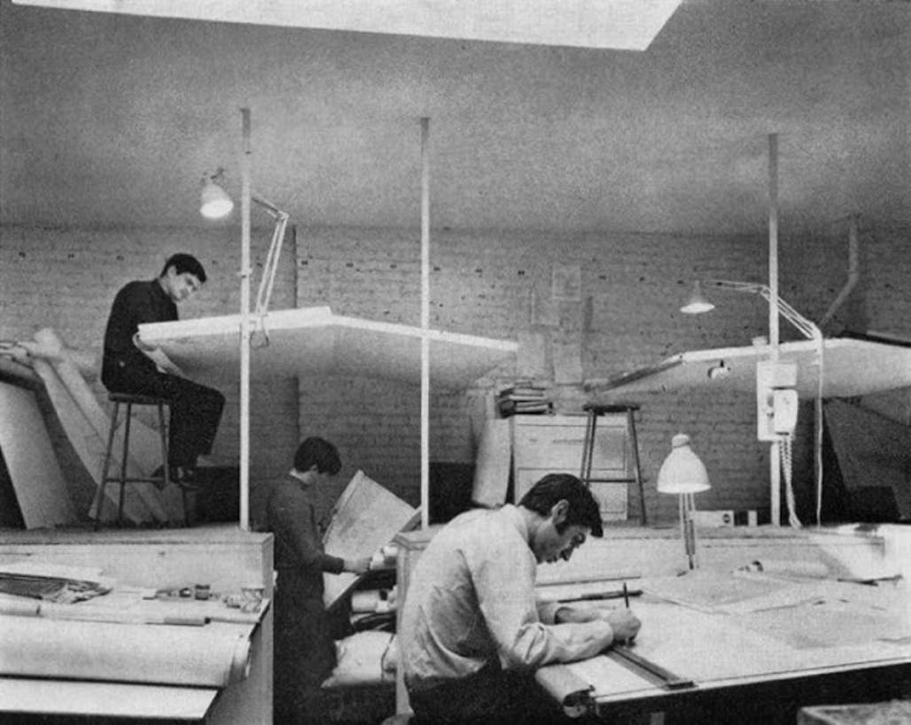 Vintage photos remind of the profession before AutoCAD