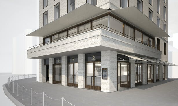 Ground floor entrance visualisation for tender package