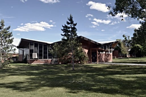 Wyoming School for the Deaf, designed by Krusmark + Krusmark. One of the schools in Mansfield's research. Photo via historicwyoming.org