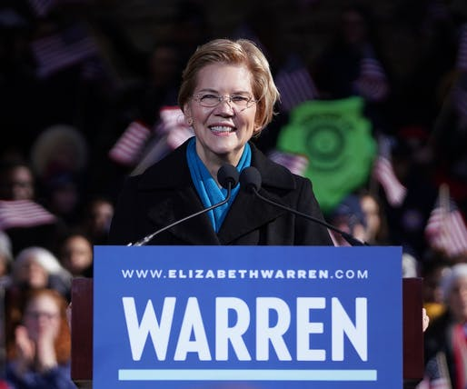 Democratic presidential candidate Elizabeth Warren, Image courtesy of Elizabeth Warren's Flickr.