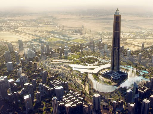 Oblisco Capitale Tower concept. Image: IDIA.Design.