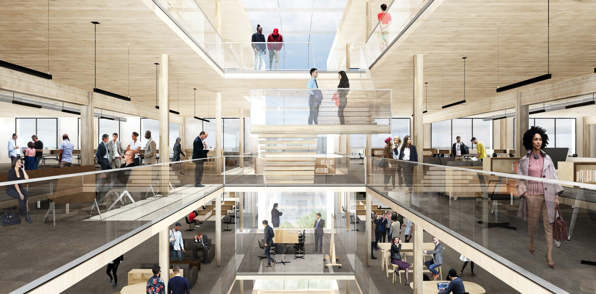 Largest timber-constructed office building in the nation planned for ...