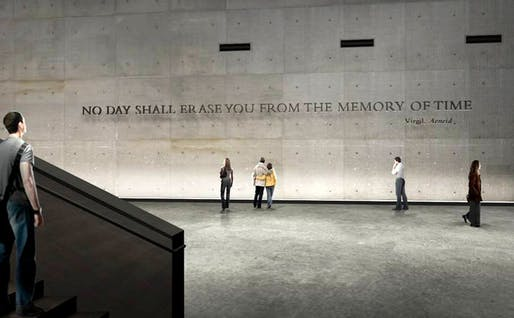 An early rendering of the inscription at the National September 11 Memorial Museum. (Thinc/National September 11 Memorial & Museum)