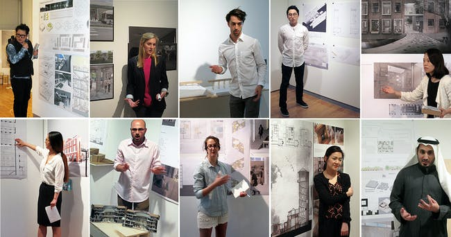 Thesis students 2014. Image courtesy of RISD Interior Architecture Department.