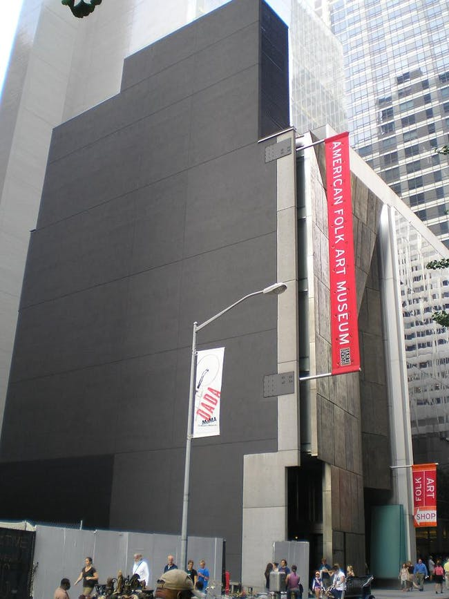 RIP: the MoMA expansion comes at the cost of the American Folk Art Museum. Credit: Wikipedia