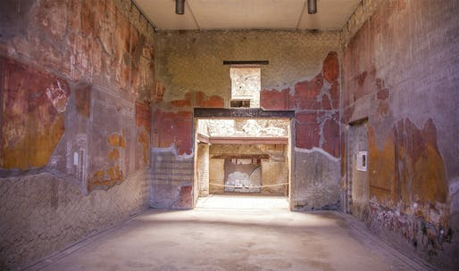 The House of the Beautiful Courtyard, Herculaneum, Italy. Image courtesy of Parco Archeologico di Ercolano and Expanded Interiors.