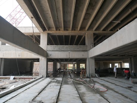 Double height spaces, Shiv Nadar School (Faridabad)