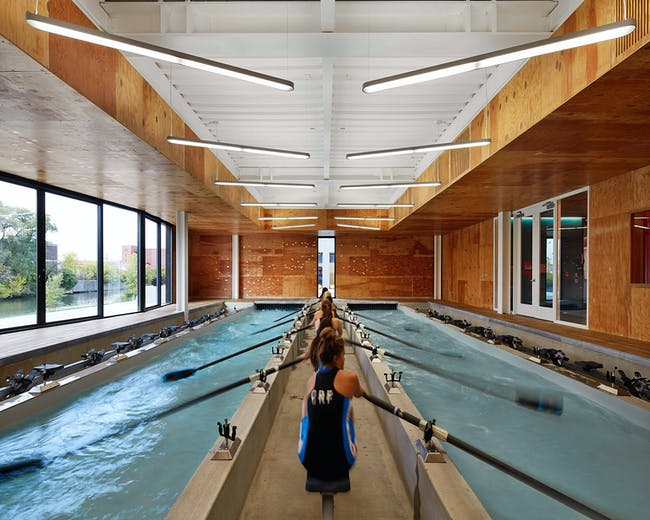 WMS Boathouse at Clark Park; Chicago by Studio Gang Architects. Photo: Steve Hall, Hedrich Blessing.