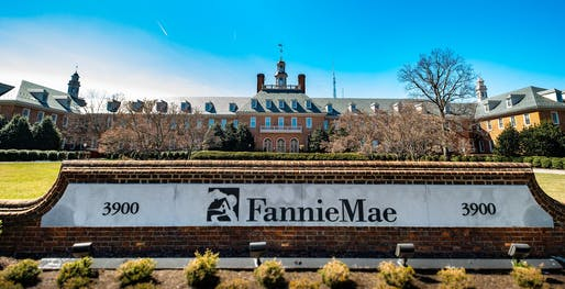 VIew of Fannie Mae's headquarters in Washington, D.C. Image courtesy of Flickr user ehpien.