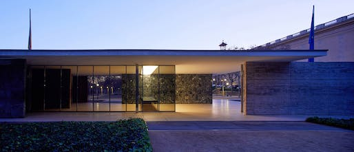 """Re-enactment"" exhibition @ the Barcelona Pavilion. All photos by Pepo Segura."