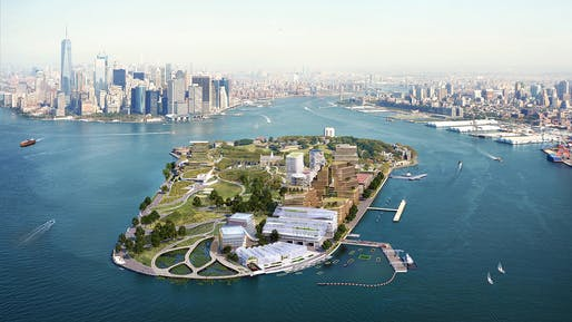 Bird's-eye view of the proposal. Image courtesy of WXY architecture + urban design/bloomimages.