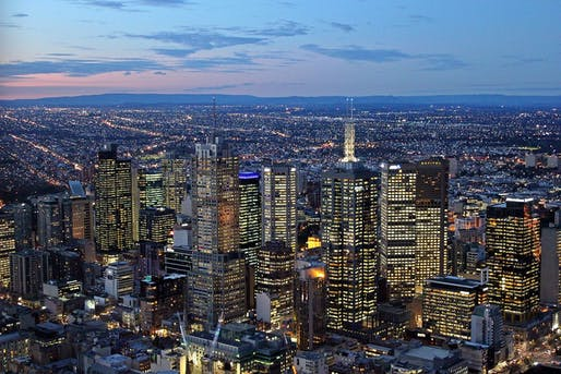 View of the Melbourne Central Business District. Image courtesy of Wikimedia user Nazareth College.