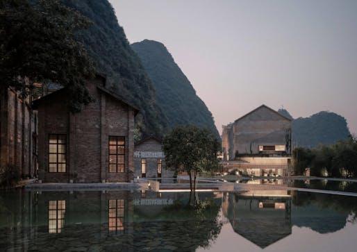 Vector Architects, Alila Yangshuo Hotel, Yangshuo, Guilin, Guangxi, China, 2013–2017. Photograph by Shengliang Su (MoMA 295.2020.2)