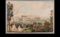 The Coliseum, Watercolor, 18th century. Image courtesy James Tice.