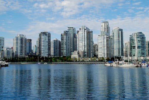 The Vancouver skyline, glassy but also low-carbon.