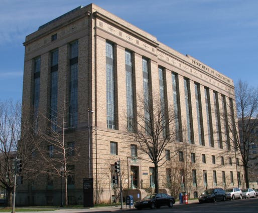 "Shown: The US Department of Agriculture Cotton Annex Building in Washington, DC. Photo courtesy of Wikimedia user <a href=""https://www.flickr.com/photos/mr_t_in_dc/2355822697""> Mr.TinDC</a>"