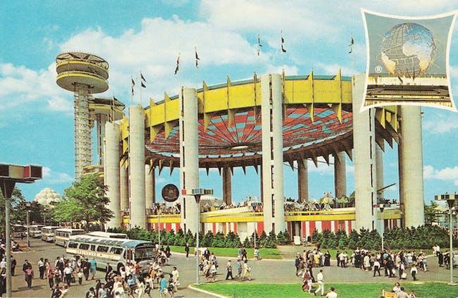 Philip Johnson's New York State Pavilion c.1964 for the New York World's Fair. Image via 'Modern Ruin' Kickstarter.