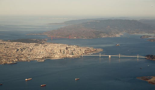 While San Francisco's steep elevations might make it seem protected from rising sea levels, 'king tides' reveal just how vulnerable the city's lower stretches remain. Photo: Doc Searls / Wikipedia