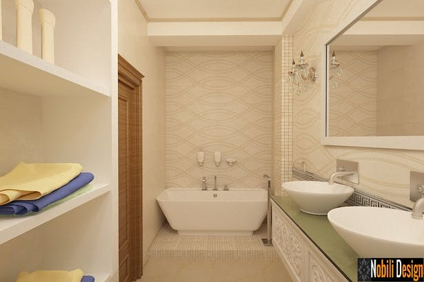 Design interior baie moderna - Amenajari interioare in Bucuresti