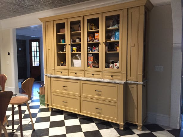 BUILT IN PANTRY WAITING FOR GLASS