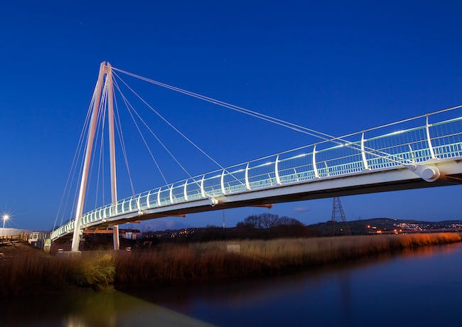 Shortlisted: Teign Crossing Cycle Bridge, Newton Abbot, Devon, UK; Photo: Devon County Council