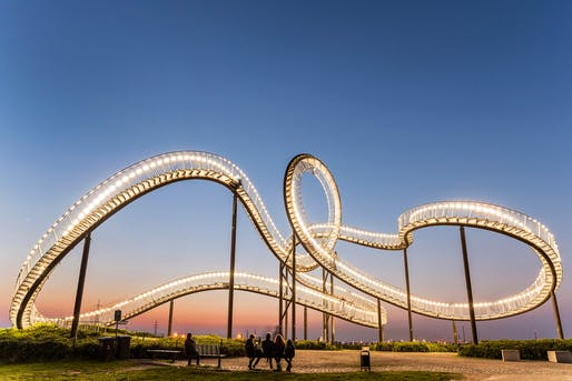 "Sculptural walkway ""Tiger & Turtle—Magic Mountain"" by artists Heike Mutter and Ulrich Genth. Photo by Martin Kirchner"