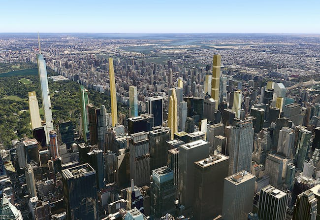 Future New York over Midtown towards Central Park. Image via cityrealty_nyc's Flickr