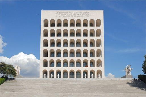 """Palazzo della civiltà del lavoro, also known as """"Square Colosseum"""". Image via wikicommons"""
