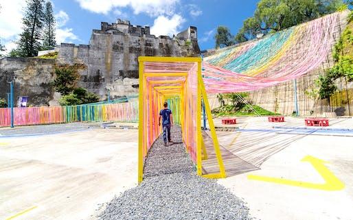 Taller KEN | Playa Chomo Design-Built Initiative, Centro Cultural Miguel Asturias, Zone 1, Guatemala City, 2016. Image credit: Marcelo Guitterez.