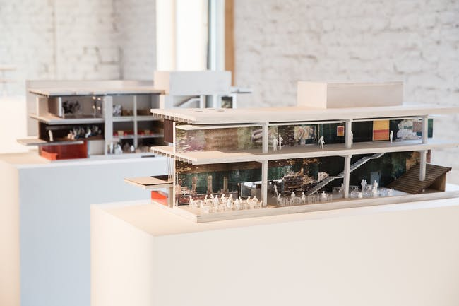 Garage Museum in Gorky Park, model. (Photo: Nikolay Zverkov © Garage Center for Contemporary Culture, Moscow. Image courtesy of OMA.)