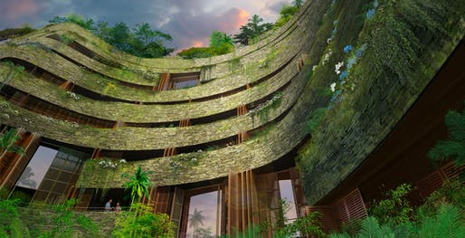 Aquerela located in Quito, Ecuador. Image courtesy of Ateliers Jean Nouvel