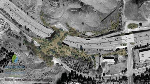 The Liberty Canyon Wildlife Bridge, Image courtesy of Caltrans.