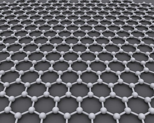The molecular structure of Graphene, which is made up of extremely thin layers of carbon. Image courtesy of Wikimedia user AlexanderAlUS.