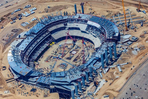 Los Angeles Rams Stadium Progress Image © Hiro Ueno