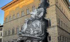 Artist JR 'cracks open' Florence's Palazzo Strozzi with monumental optical illusion installation