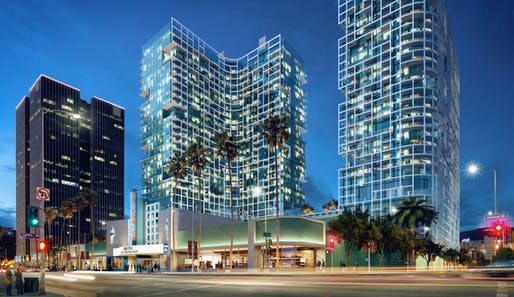 The Palladium Residences project is one step closer to becoming a reality. Rendering courtesy of Natoma Architects.