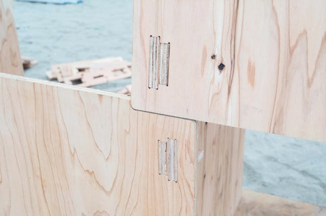Shichigahama Beach House - detail of construction