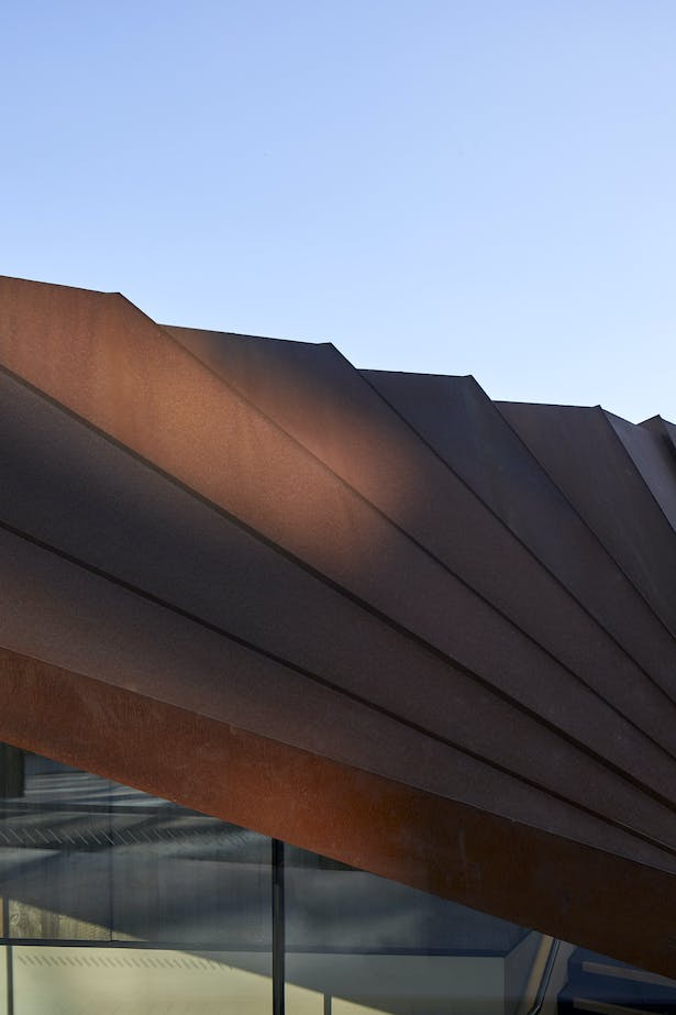 Corten panels will oxidise over time
