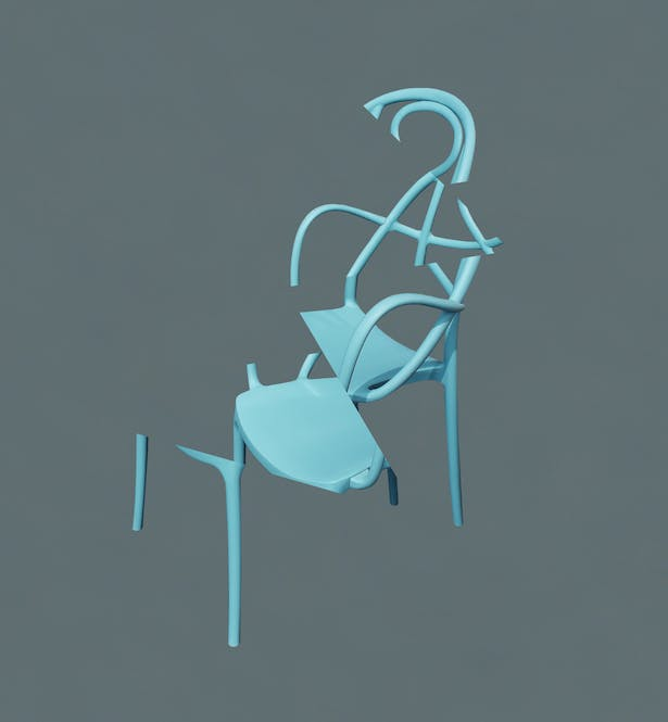 Deconstructing My Blue Metal Chair