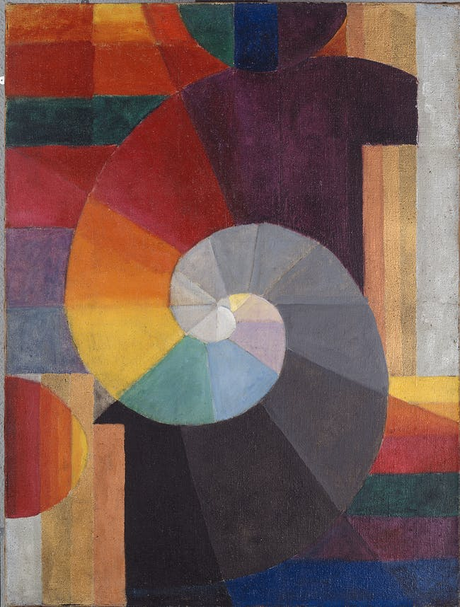 Johannes Itten: The Encounter, 1916; oil on canvas; 41 ⅓ x 31 ½ in.; collection of Kunsthaus Zürich. © 2015 Artists Rights Society (ARS), New York / ProLitteris, Zürich.