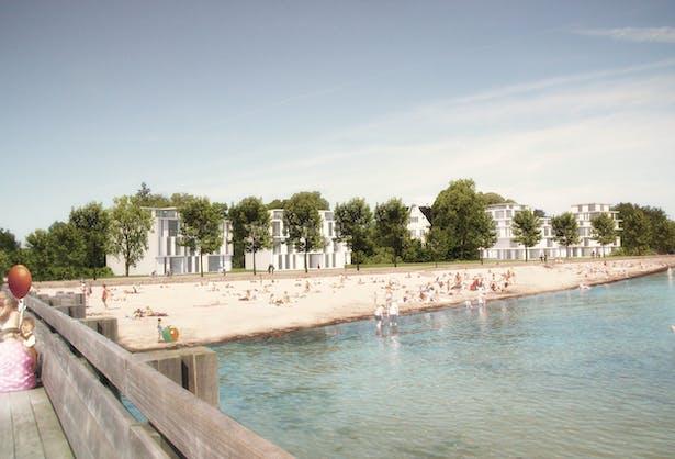 Strandpromenaden Urban Villas by schmidt hammer lassen architects