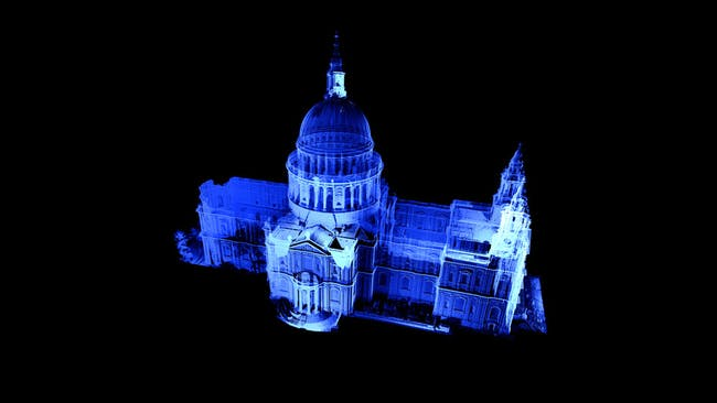 Point Cloud & GGI image of St Paul's Cathedral. Courtesy of Atlantic Productions