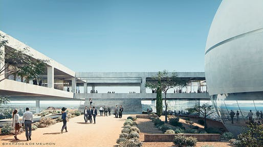 "Rendering of the Berggruen Institute's new ""Scholars' Campus"" in Los Angeles. Image © Herzog & de Meuron."