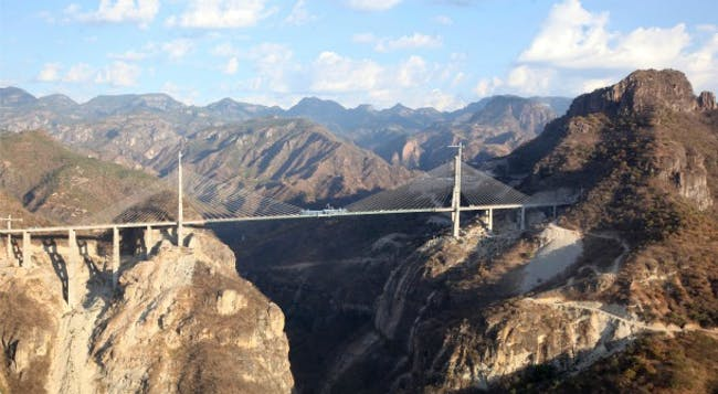 The Baluarte Bridge is now the world's tallest cable-stayed bridge.