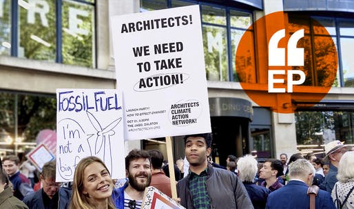 Architects protest at the Extinction Rebellion march in London, 2019 © ACAN, Joe Giddings.