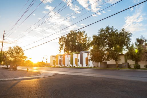 The Residences at Camel Back West​, a mixed-income housing complex that offers market-rate and below-market rate housing options. Image courtesy of Residences at Camel Back West / Chicanos Por La Causa.