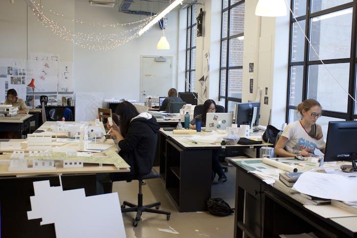 Students at work at Rice University. Via Rice University